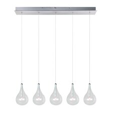 Sklo 5 Light Linear Pendant