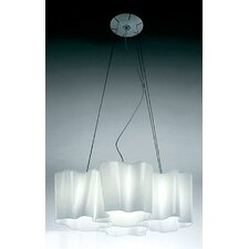 Logico 4 Light Quadruple Nested Suspension with Incandescent Bulbs