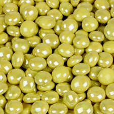 5 lbs of  Glass Gems in Electric Yellow