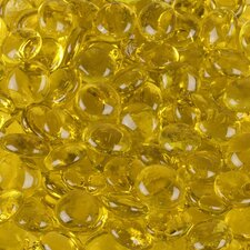 5 lbs of  Glass Gems in Canary Yellow