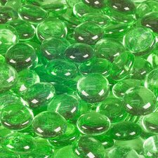 5 lbs of  Glass Gems in Lime Green