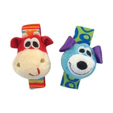Dog and Giraffe Wrist Rattles
