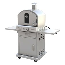 "19.88"" Outdoor Pizza Oven Gas Grill with Cart"