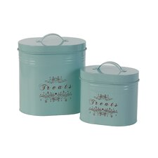 """Treats"" Canister (Set of 2)"