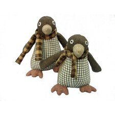 Fabric Penguin Door Stop