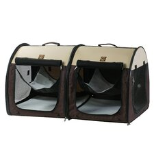 Double Fabric Portable Pet Crate/Carrier