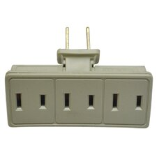 3 Outlet Swiveling Adapter