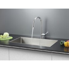 "30"" x 18"" Kitchen Sink with Faucet"