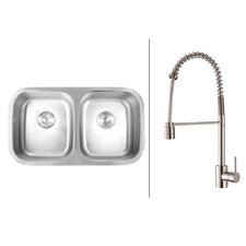 "33.25"" x 18.5"" Kitchen Sink with Faucet"