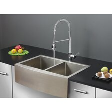 "33"" x 22"" Kitchen Sink with Faucet"