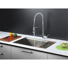 "<strong>Ruvati</strong> 32"" x 19"" Kitchen Sink with Faucet"
