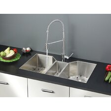 "<strong>Ruvati</strong> 35"" x 19.5"" Kitchen Sink with Faucet"