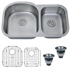 "<strong>Ruvati</strong> Varna 34"" x 18.75"" Undermount Double Bowl Kitchen Sink"