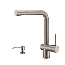 Cascada Single Handle Kitchen Faucet with Soap Dispenser