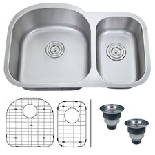 "<strong>Ruvati</strong> Varna 31.5"" x 20.75"" Undermount Double Bowl Kitchen Sink"