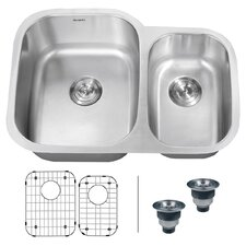 "Parmi 29.5"" x 21"" Undermount Double Bowl Kitchen Sink"