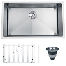 "Gravena 32"" x 19"" Undermount Single Bowl Kitchen Sink"