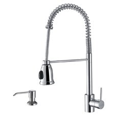 <strong>Ruvati</strong> Cascada Single Handle Pull-Down Kitchen Faucet with Soap Dispenser