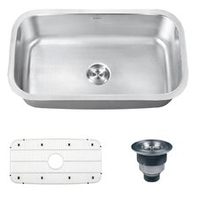 "Parmi 31.5"" x 18.25"" Undermount Single Bowl Kitchen Sink"