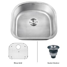 "Varna 23.25"" x 21"" Undermount Single Bowl Kitchen Sink"