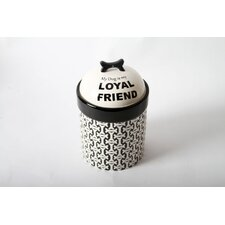 "Unleashed ""My Dog Is My Loyal Friend""  Treat Jar"