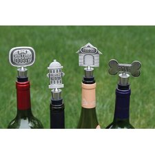 Lucky Dog 4 Piece Expressions Bottle Stopper Set