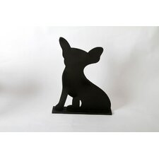 "Unleashed ""Chihuahua"" Dog Silhouette Table Chalkboard"