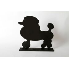 "Unleashed ""Poodle"" Dog Silhouette Table Chalkboard"