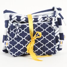 Latitude 38 3 Piece Nautical Cotton Zip Pouch