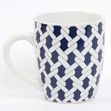 <strong>DEI</strong> Latitude 38 20 oz. Nautical Rope Stoneware Jumbo Mug