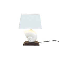 "Nautilus Shell 15.5"" H Table Lamp with Empire Shade"