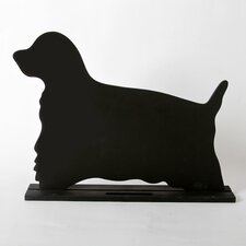 "Unleashed ""Spaniel"" Dog Silhouette Table 10.75"" x 1' 3"" Chalkboard"