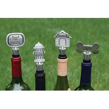 Lucky Dog Expressions Bottle Stopper (Set of 4)