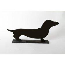 "Unleashed ""Dachshund"" Dog Silhouette Table 8.5"" x 1' 7.5"" Chalkboard"