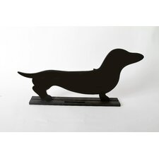 "Unleashed ""Dachshund"" Dog Silhouette Table Chalkboard"