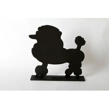"Unleashed ""Poodle"" Dog Silhouette Table 1' 2"" x 1' 2.5"" Chalkboard"