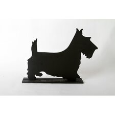 "Unleashed ""Terrier"" Dog Silhouette Table Chalkboard"