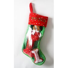 "Santa""s Lucky Dog ""Snowflake Dog"" Holiday Pet Stocking and Toy Set"