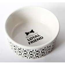 "Unleashed ""My Dog Is My Loyal Friend"" Stoneware Dog Bowl"