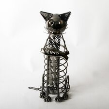 "Mr. Snugs ""Meow"" Cat Tabletop Wine Rack"