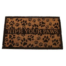 "<strong>DEI</strong> Lucky Dog ""Wipe Your Paws"" Expressions Coir Rug"