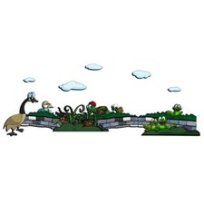 Friendly Animal 11 Piece Scene 3D Cartoon Wall Art