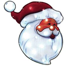 Santa Face 1 Light LED Lighted Window Decor