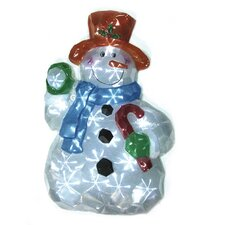 LED Icy Snowman Lawn Silhouette Christmas Decoration
