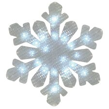 Snowflake 20 Light LED Lighted Window Decor