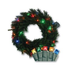 Micro Mini 35 Light Mixed Pine Lighted LED Wreath