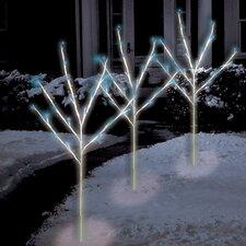 60 Light LED Twig Tree Pathmarkers Christmas Decoration (Set of 3)