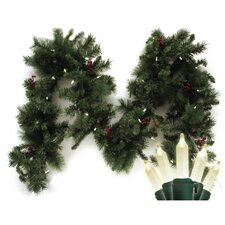 Traditional Mini 35 Light LED Anchorage Fir Branch Garland