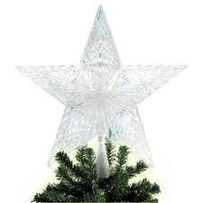 10 Light Pentagram Star LED Tree Topper
