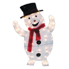 70 Light 2D Snowy Soft Snowman Sculpture